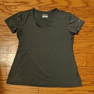 Columbia Omni-Wick Grey  Short Sleeve Shirt